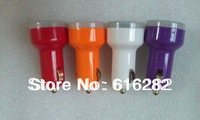 Dual 2 Port USB Car Charger Adapter 5V 2.1A + 1A For Cell Phone and Tablet PC Purple White  Red Orange colors 4pcs/lot
