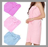 Free Shipping Bath towel 100% cotton bow bath skirt bathrobes khan steam clothes towel tube top design bathrobe