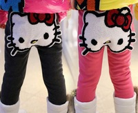 Wholosale Free Shipping New 2014 Children Girls Clothing Lovely Applique Hello Kitty Kids Pants Trousers 5pcs/lot