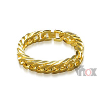 men's bracelet 24K gold and rose gold plated bracelet stainless steel chains bracelet for men