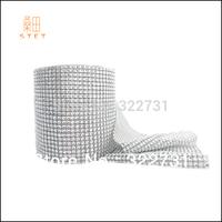 "4.5""*10 yards Plastic Diamond Mesh Roll High Quality Without Rhinestone Wedding Favor and DIY Decoration Silver"