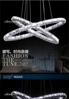 Living room lamps led crystal lamp oval shape stainless steel restaurant lamp pendant light bedroom lamp study light