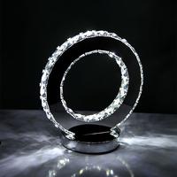 free shipping Led modern lamp stainless steel lamp toroidal fashion bedside table lamp led gift lighting