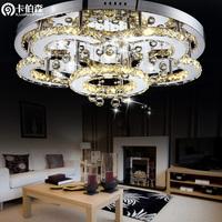 free shipping Modern flower-shaped led crystal lamp stainless steel living room lights ceiling light lighting bedroom lamp