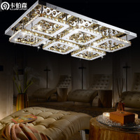 free shipping Living room lights modern brief crystal lamp led ceiling light rectangle restaurant lamp