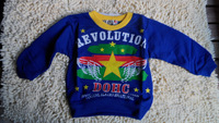 Stock Clearance Spring Automn O neck Kid's embroidered Star children's Boy Girl Long Sleeve T shirt 1~4 Years  4 pcs/lot