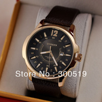 JW483 Fashion Casual Men CURREN Brand Wristwatches Japan Movement Quartz Watches Gentleman Big Dail With Calendar Colck Hours