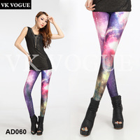 2013 New HIGH QUALITY Galaxy Leggings  for Women  DIGITAL PRINTED Black MILk Leggings Plus Size pants AD060