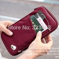 Free shipping New Travel Passport Credit ID Card Cash Holder Organizer Wallet Purse Case Bag