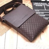 2014 fashion men shoulder bag, high quality PU leather messenger bag, ipad computer leisure bags wholesale