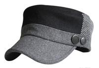 Men's Warm Cap Autumn&Winter  Woolen Adjustable Cap for Male Button Casual Cap PMS011
