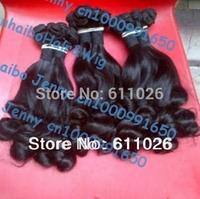 fashion Grade 6a super quality 3pcs/lot #1b virgin brazilian aunty funmi human hair weave for black women free shipping