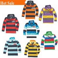 cheap 2-14year 1 pcs Spring&Autumn Polo kids boy's Children's long sleeve stripe shirt  clothing