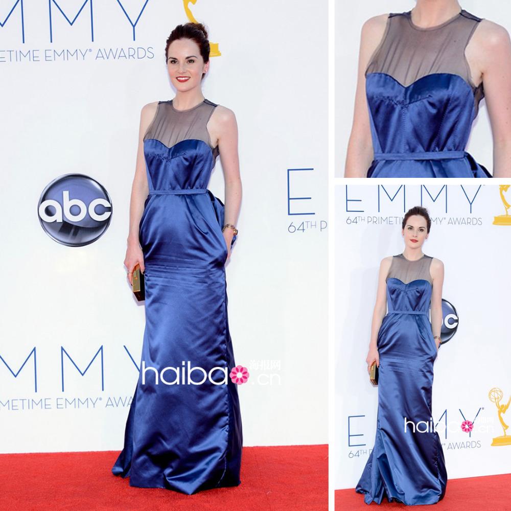Oscar Lebanese Royal Blue Evening Dress New Fashion 2013 EC95(China (Mainland))
