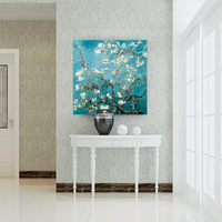 Van Gogh works. Apricot oil painting. Home decoration. Painting the living room. Restaurant decorative painting