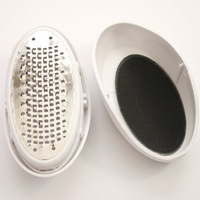 Grinding Foot Device 1pc/lot Egg Shape ABS+Stainless Steel White Smooth Feet Pedicure Skin Remover Foot Care Tool 670556