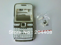 White replacement mobile phone housing for nokia e72 cellphone repair cover case faceplate+keypad+spare parts,free shipping