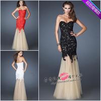 Tube Top Dress New Elegant Sexy Mermaid Lace Evenning Dresses Prom Dresses Fish Tail Dresses Long Design