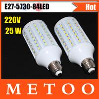 Super bright 25W LED E27 lamps 210V-230V 84 leds corn bulbs, NEW Chip 5730 LED Chandelier lighting Dropshipping