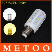 E27 led lustre 7W SMD 5630 24 leds 220V lamps Saving Chip 5630 LED lanterna Light 5Pcs/Lot Wholesale
