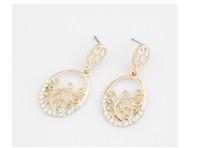 Earrings elegant temperament hollow flower vine earrings  earrings European and American fine jewelry wild dress C76