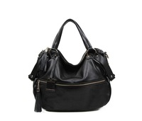 First Layer Of Genuine Leather Women Shoulder Bags Super Star Totes Handbags Vintage Black Color