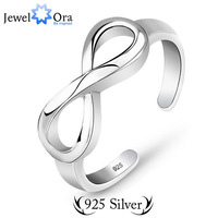 Genuine 925 Sterling Silver Women Rings Jewelora  #RI101200 Classic Elegant  Lady Infinity Ring