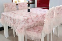 [ FJR ] Free shipping big powder dining table chair refrigerator cover / cushion lace tablecloth / fabric coffee table cloth /