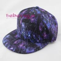 New Harajuku Blue Starry Sky Style Soft Snapback Baseball Cap Adjustable Hip-Pop Hat Free Shipping