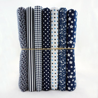 New Arrival~ Navy Series 50x50cm 6 Prints Assorted 100% Cotton Tilda Cloth, Patchwork Quilted Sewing Fabric Drop Shipping