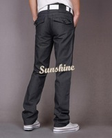 2014 Fashion New Arrival Men's Slim Fit Anti-wrinkle Velvet Casual Trousers Pants Straight Leg Size 30~34 Button 19159