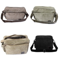 New Winter Style Unisex Casual Multifunction Canvas Messenger Bag 1pc/lot Useful One Shoulder Bag Green/Khaki/Back/Coffee 640322