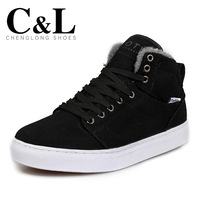 MenWinter shoes male high-top shoes casual shoes skateboarding warm cotton-padded shoes male shoes martin boots free shippping