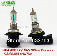XENCN HB4 9006 12V 70W White Diamond Light Colorful Lighting Car Bulbs Germany Technology Halogen Fog Lamp Free Shipping 2pcs