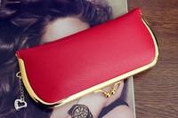 Promotion New designer Korean PU Leather Brand  Designer Money Clip party evening  women wallets women  purses cartera hombre