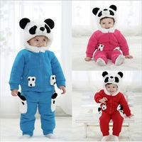 free shipping 2013 Winter new carters baby girl clothing sets cotton bodysuits long sleeve children outerwear
