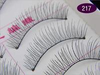 New Hot top wholesales10 Pair/set Handmade False Eyelash Natural Cozy Look Transparent Stem Hair 217