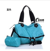 Nylon bag  2013 The New women 's Handbag Shoulder  Messenger Bag Sports Bag fitness Bag + FREE SHIPPING casual big bag