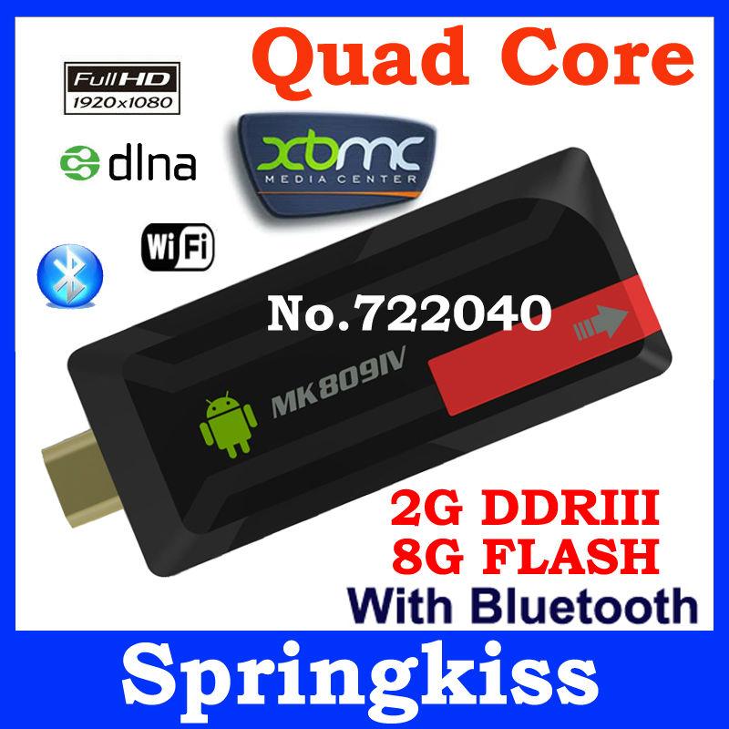 MK809 IV Quad Core TV Stick Box Media Player Google Android 4.2 RK3188 2GB/8GB WIFI 1080P XBMC HDMI Smart TV Dongle mk809IV(China (Mainland))