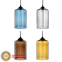 New Contemporary 6 Color Glass Ball Pendant Lights Pendant Lamps for home Indoor Lighting Fixture E