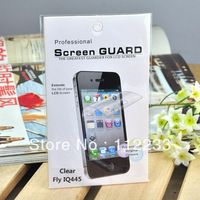 5PCS/LOT LCD Screen Protectors For Fly IQ445 Genius Clear style with Cleaning Cloth Free Shipping