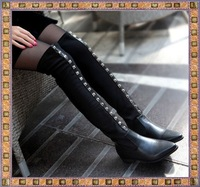 thigh high boots Free shipping ladies' boots over the knee women's boots A428 sexy PU leather long boots for women knight boots