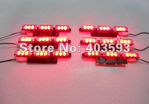 RED 54 LED Fire Car Deck Truck Dash Strobe Flash Warning Light Emergency 12V(China (Mainland))