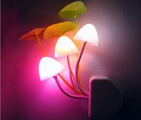 "New Colorful Romantic LED Mushroom Dream Night Light Bed Lamp ""Avatar"" creative Free Shipping"
