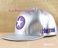 Fashion Embroidery Adjustable Captain America Star Sliver Shinning Baseball Caps Hip Hop Hats Free Shipping