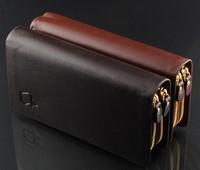 M03 brand fashion men's genuine leather wallet clutch purse travel long wallets bag wholesale passport