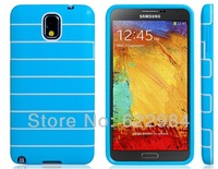Striped Print TPU Rubber Case for Samsung Galaxy Note 3/N9000/N9005  LMS-1492D