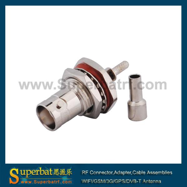 BNC waterproof connector Crimp Jack with bulkhead o-ring(China (Mainland))