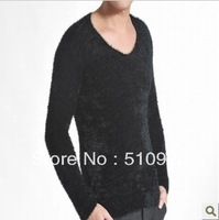 New Casual comfort fashion v-neck men mohair sweaters 6 color 4 size 2111