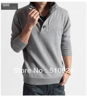 New men's fashion collocation turtleneck sweater 2111
